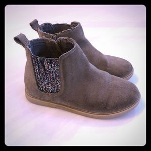 Girls Tucker+Tate sparkle suede boots